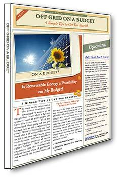 Download the Off Grid on a Budget e-book for solar and battery tips to save money