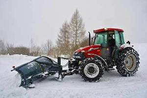Tractor snow blade